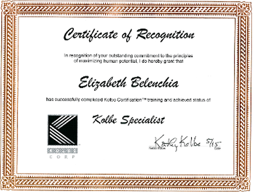 Kolbe Specialist Certificate, Business Professionals in Spartanburg, SC